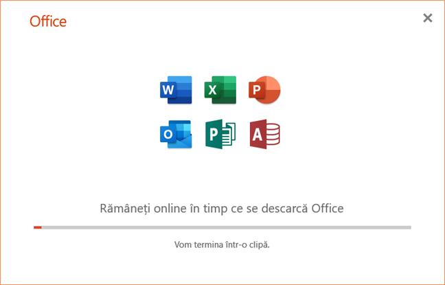 Instalarea Office 365