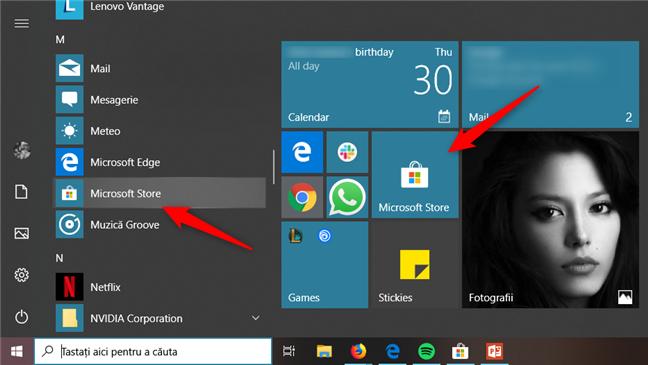 Lansarea Microsoft Store