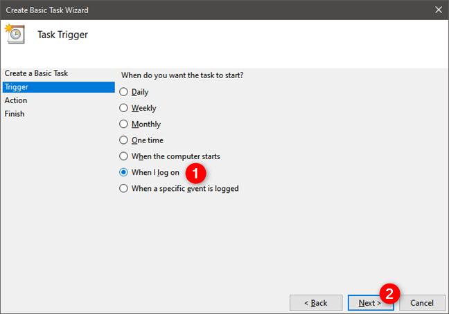 Selectarea momentului în care Windows 10 să se conecteze automat prin PPPoE