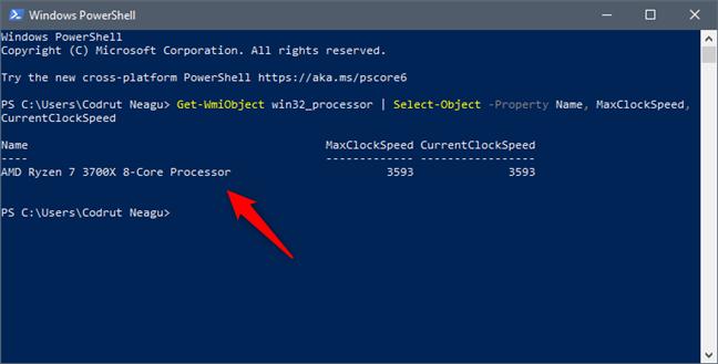Află ce procesor ai în calculator, folosind PowerShell