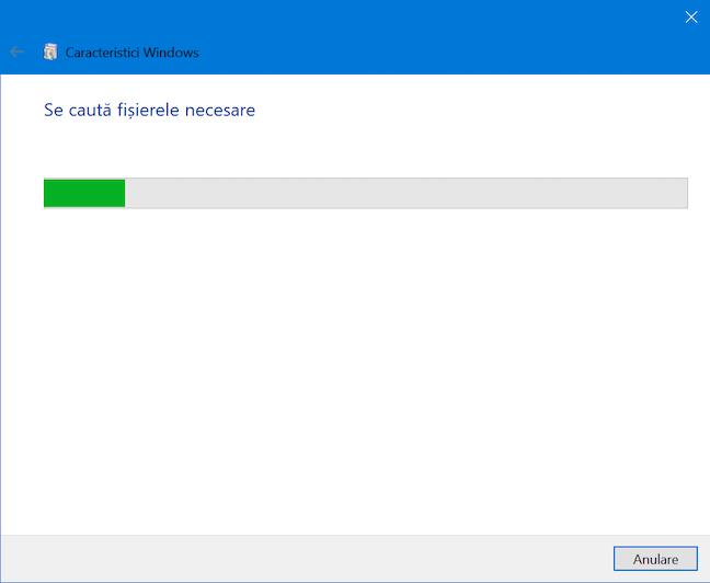 Windows 10 caută fișierele de care are nevoie