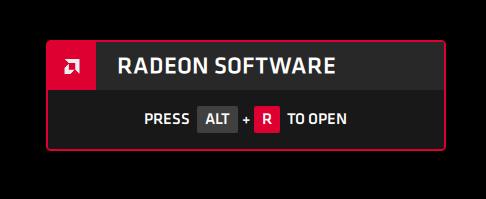 Radeon Software ALT + R overlay