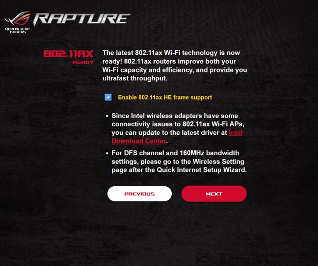 Activarea standardului Wi-Fi 6 pe ASUS ROG Rapture GT-AX11000