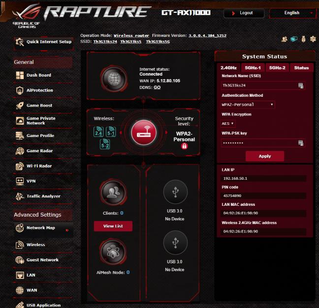 Firmware-ul de pe ASUS ROG Rapture GT-AX11000
