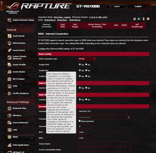 Documentația de ajutor oferită de ASUS ROG Rapture GT-AX11000