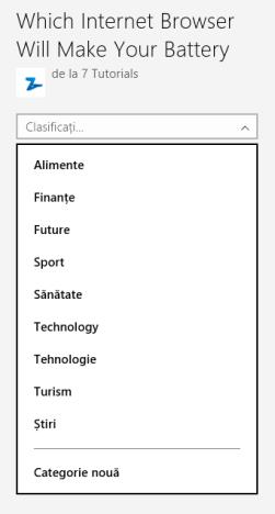 Windows 8.1, Listă de lectură, app, read later, add, content, categorize
