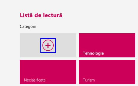 Windows 8.1, reading list, lista de lectura, citeste, continut, clasifica, categorii