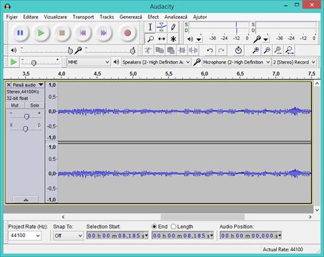 Sound Recorder, alternative, reportofon, sunet, inregistrare, Audacity