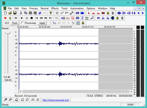 Sound Recorder, alternative, reportofon, sunet, inregistrare, Wavosaur
