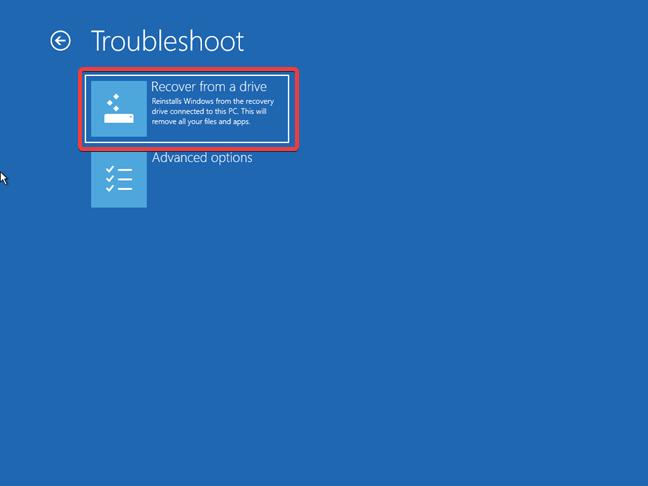 Recuperează Windows 10 de pe o unitate media