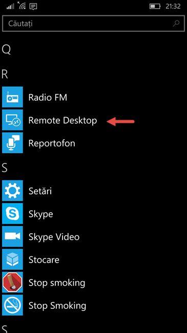 Microsoft Remote Desktop, aplicatie, conexiune, distanta, retea, Windows Phone, Windows 10 Mobile