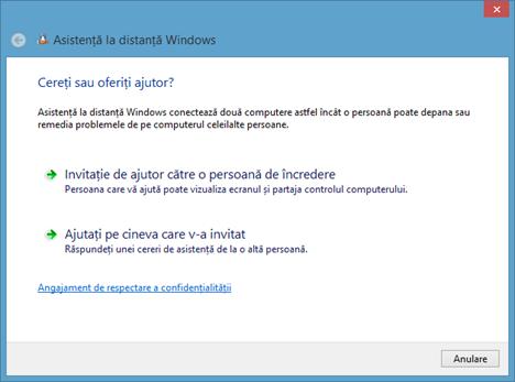 Conexiune desktop la distanta, Asistenta la distanta, Remote Desktop Connection, Remote Assistance, Windows