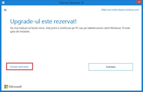 Windows 10, obtine, rezerva, upgrade, gratuit, aplicatie, notificare