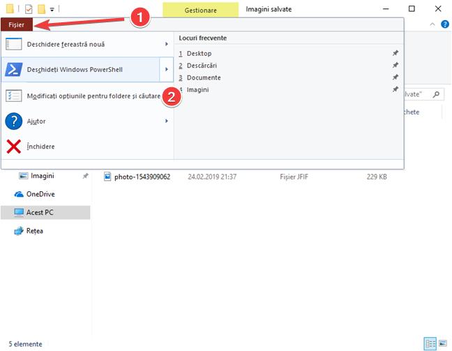 Deschide Modificați opțiunile pentru foldere și căutare în Explorer