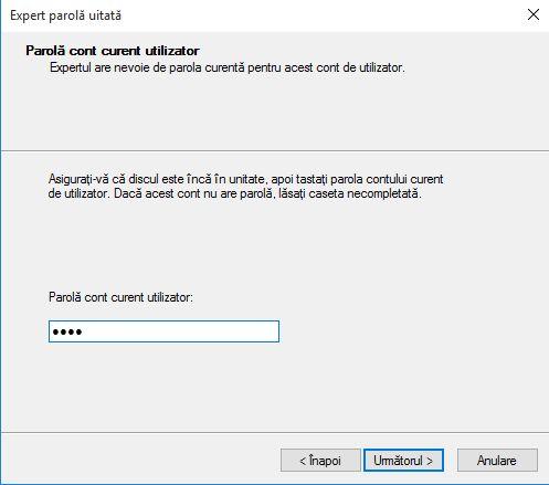 disc, resetare, parola, Password Reset Wizard, Windows, cont, utilizator