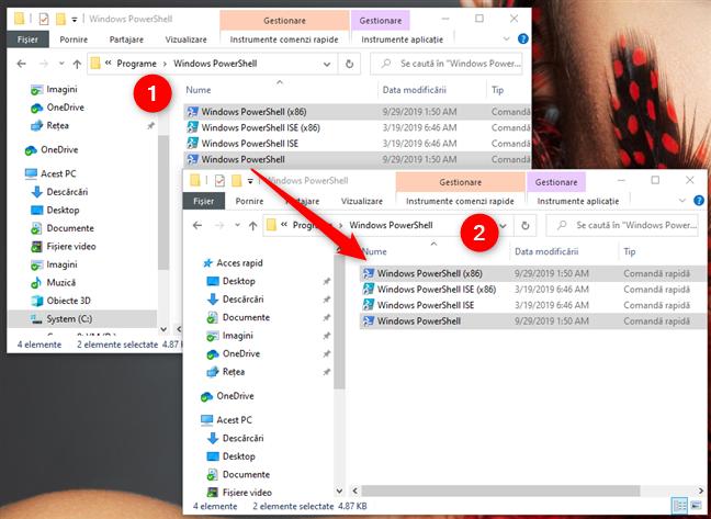 Copierea scurtăturilor PowerShell din contul nou de utilizator în contul tău