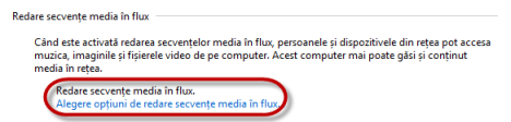 Particularizare setari de retea si partajare Windows 7