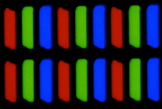 Surse de lumină RGB din pixelii de pe un ecran