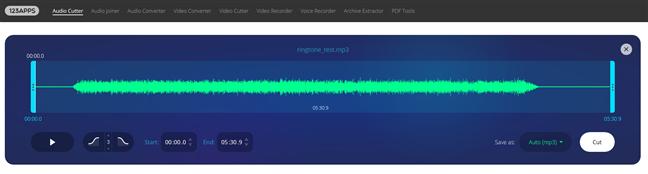 mp3cut.net - Un site web pe care poți crea tonuri de apel