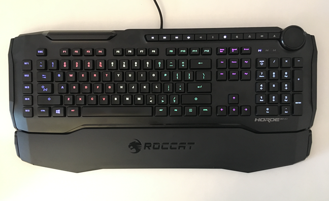 Zonele de iluminare de pe tastatura ROCCAT Horde AIMO