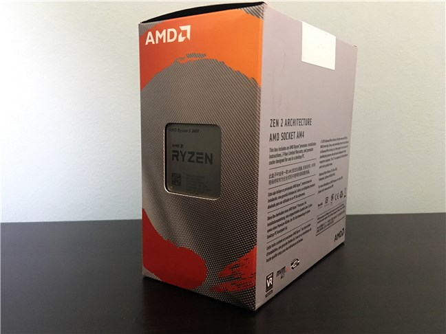 Poți vedea procesorul AMD Ryzen 5 3600 printr-un decupaj în cutie