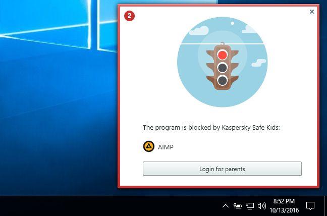 Kaspersky Safe Kids, Windows, control parental