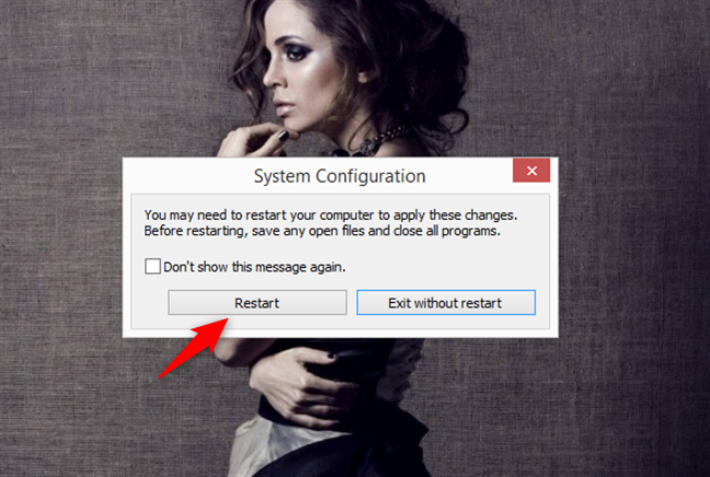 Notificare de la System Configuration