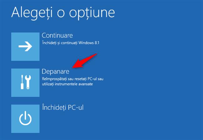 Depanare Windows 8.1
