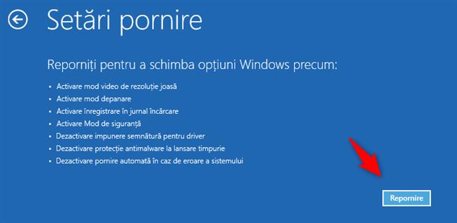 Setările de pornire pentru Windows 8.1