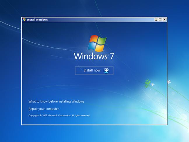 Instalare pentru Windows 7