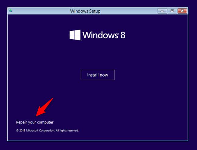 Repararea unui calculator cu Windows 8