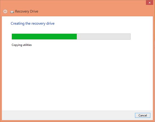 Unitate de recuperare Windows 8
