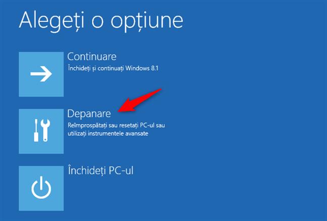 Depanarea Windows 8