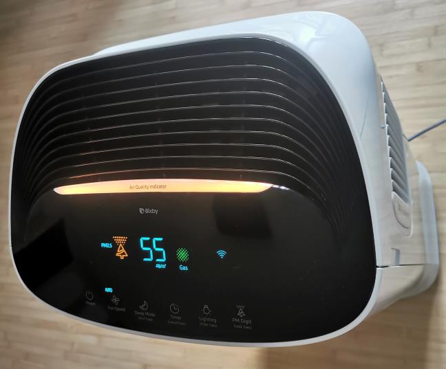 Datele despre calitatea aerului afișate de Samsung AX60R5080WD