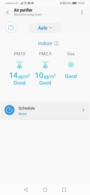 Aplicația SmartThings afișează datele trimise de Samsung AX60R5080WD