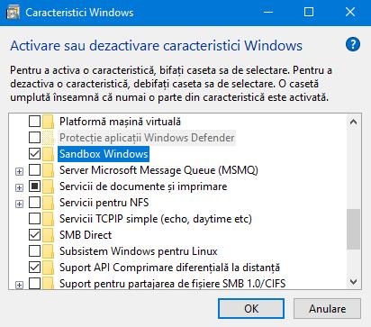 Lista de caracteristici pentru Windows 10