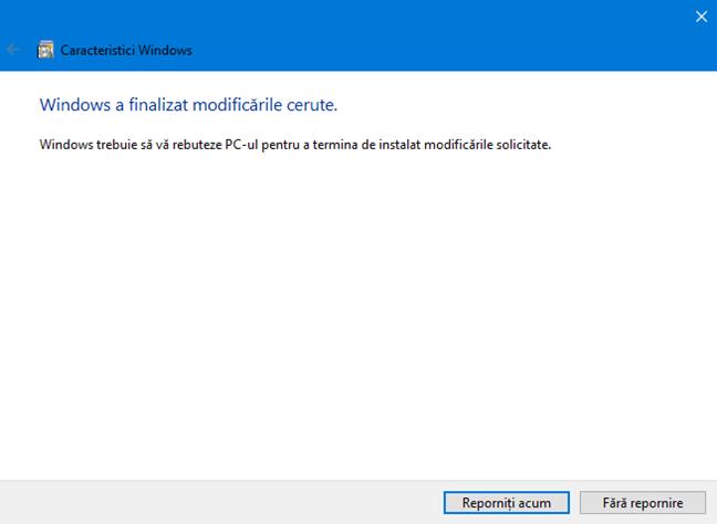 Expertul Caracteristici Windows instalează Sandbox Windows