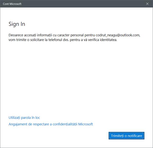 Windows 10, schimba parola, utilizator