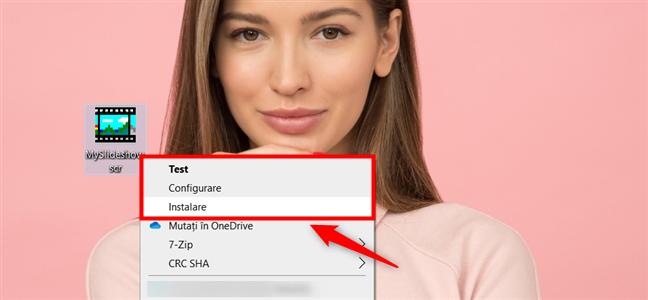 Fișierul SCR: Test, Configurare sau Instalare screensaver