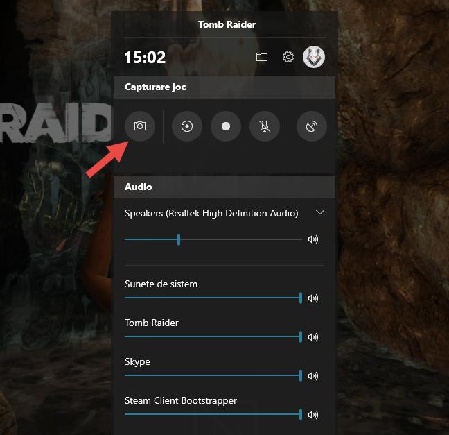 Fă o captură de ecran folosind Bara Jocuri (Game Bar) în Windows 10