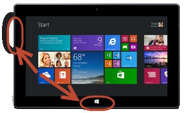 Cum faci capturi de ecran pe o tabletă Windows fără tastatură