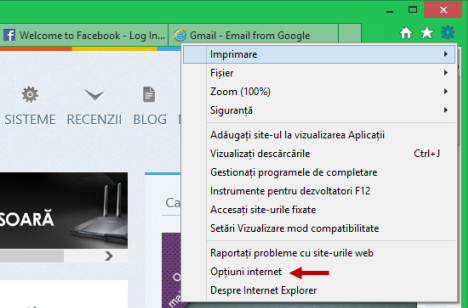 Internet Explorer, pagina de pornire, homepage