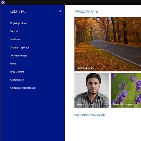 scurtatura, Setari PC, Setari, Windows 8.1, Windows 10