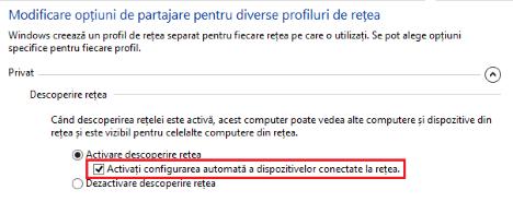 Windows 8.1, automata, configurare, retelelor, dispozitivelor