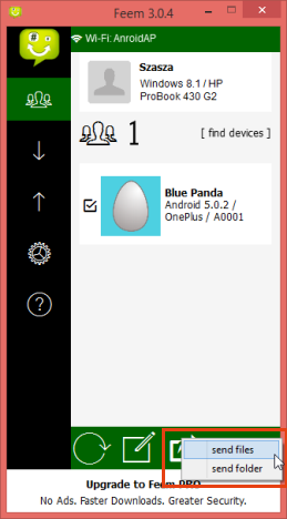 Feem, share, transfer, fisiere, smartphone, PC, Android, Windows