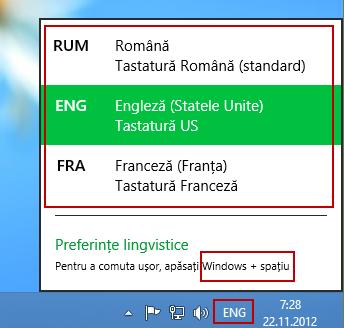 limba, tastatura, windows 8