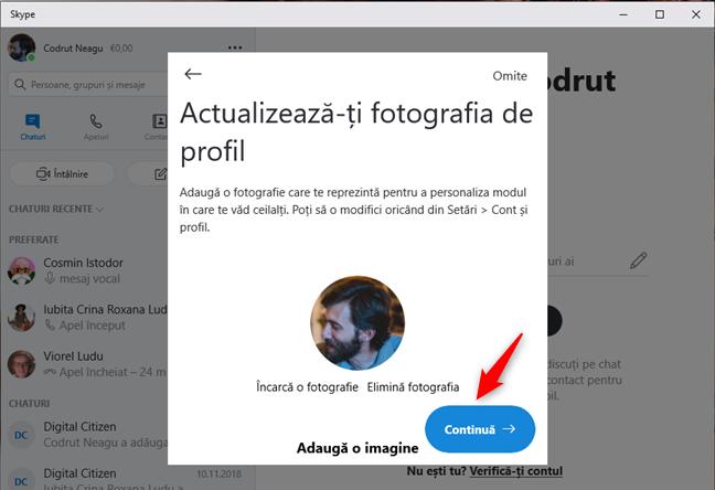 Actualizează-ți fotografia de profil în Skype