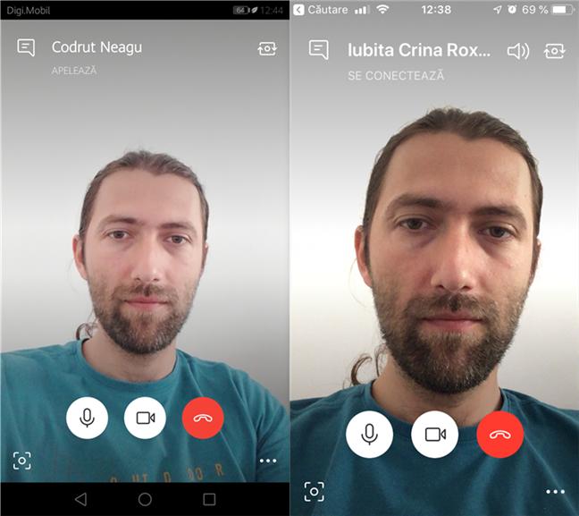 Verificarea fluxului video live în Skype pentru Android și iOS