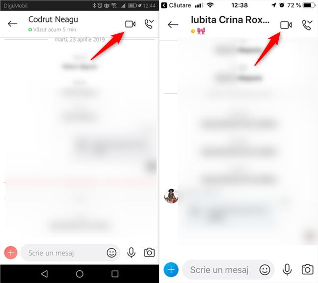 Începerea unui apel video în Skype pentru Android și iOS