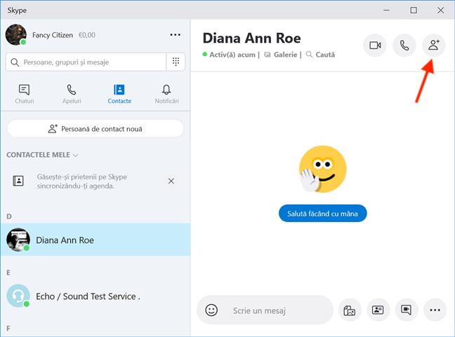 Creează un grup nou în Skype